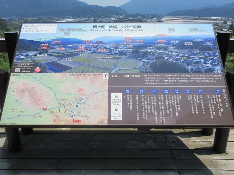 2021.6.10 (83) 笹尾山 - 関ケ原古戦場史跡位置図 2000-1500