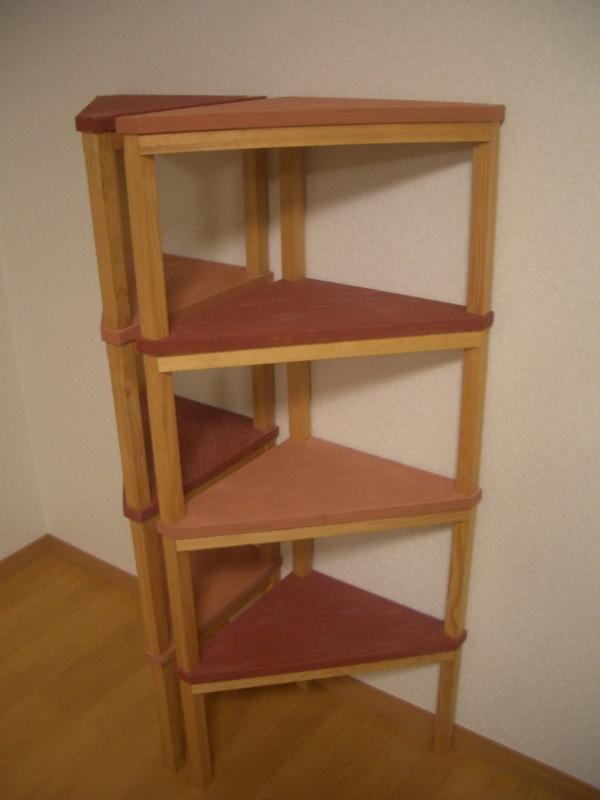 自由可変式木製棚