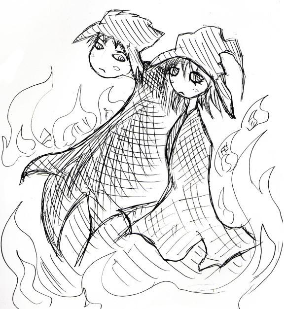 2人の魔法使いのイラスト