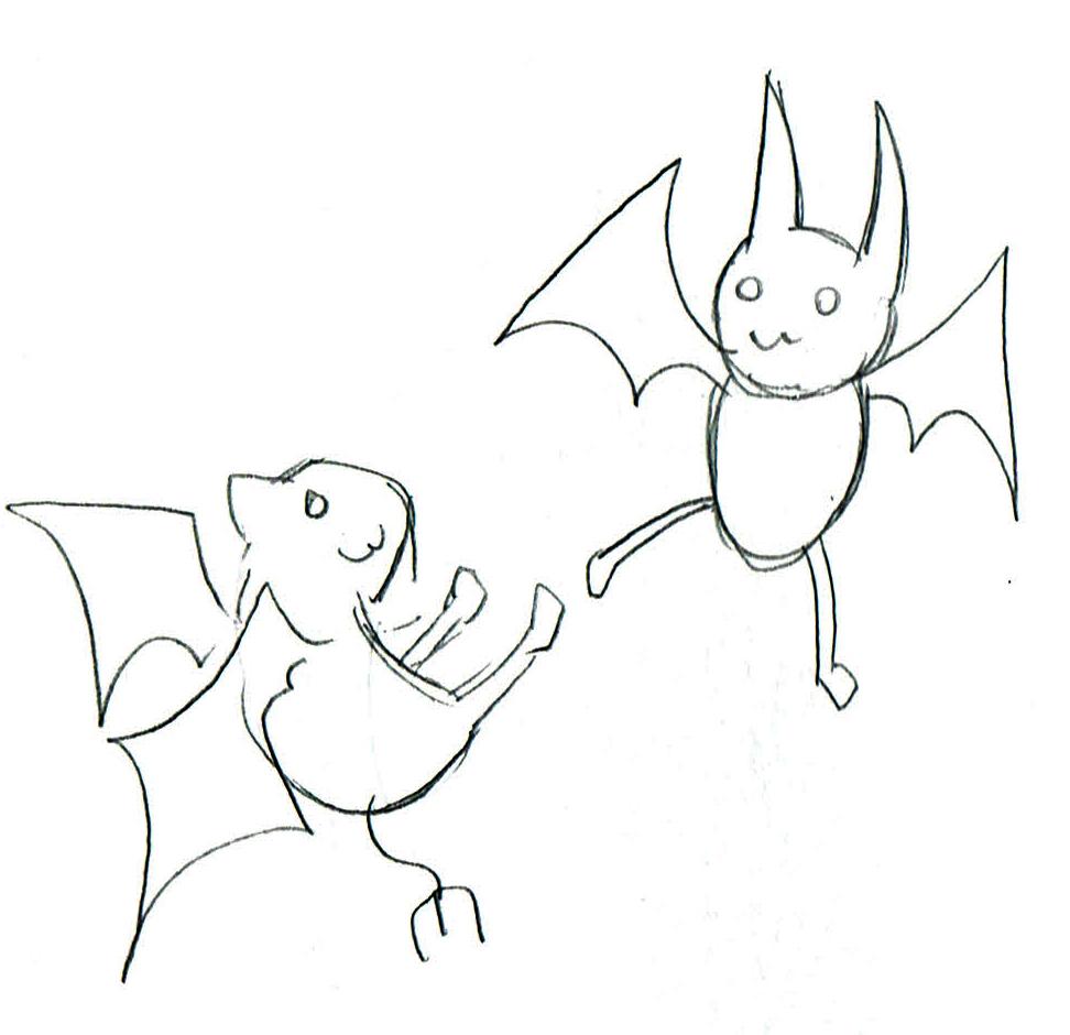 コウモリのイラスト