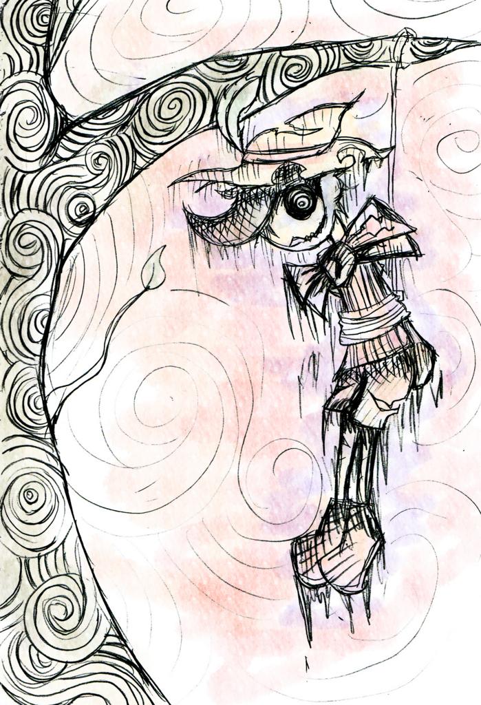 怖いピノキオのイラスト