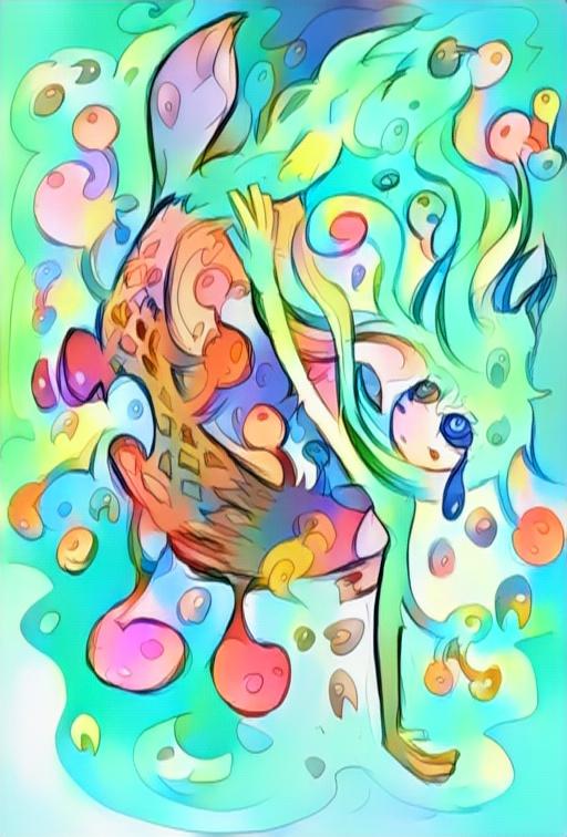 怖い人魚姫のイラスト