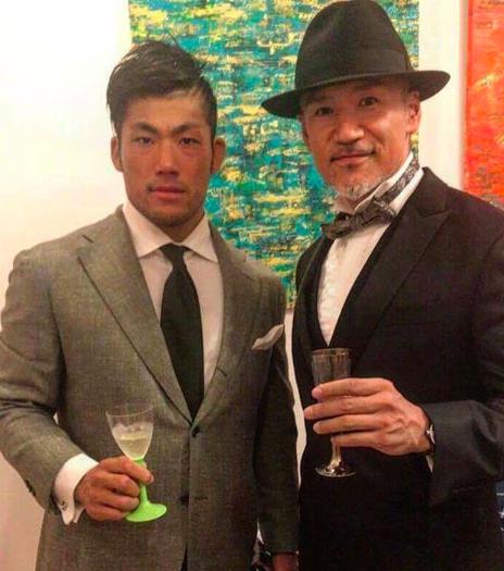 新日本プロレスのSANADAと三澤トレーナー