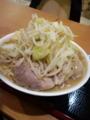 ジャンクガレッジ ラーメン大+味たま+ヤサイ+ニンニク