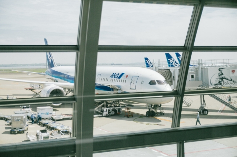 フライト前の飛行機