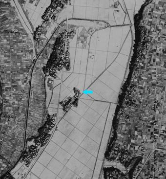 個別「1947年の航空写真 泉橋酒...