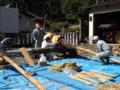 京都新聞写真コンテスト 鞍馬火祭り準備