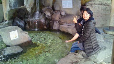 山鹿温泉の足湯
