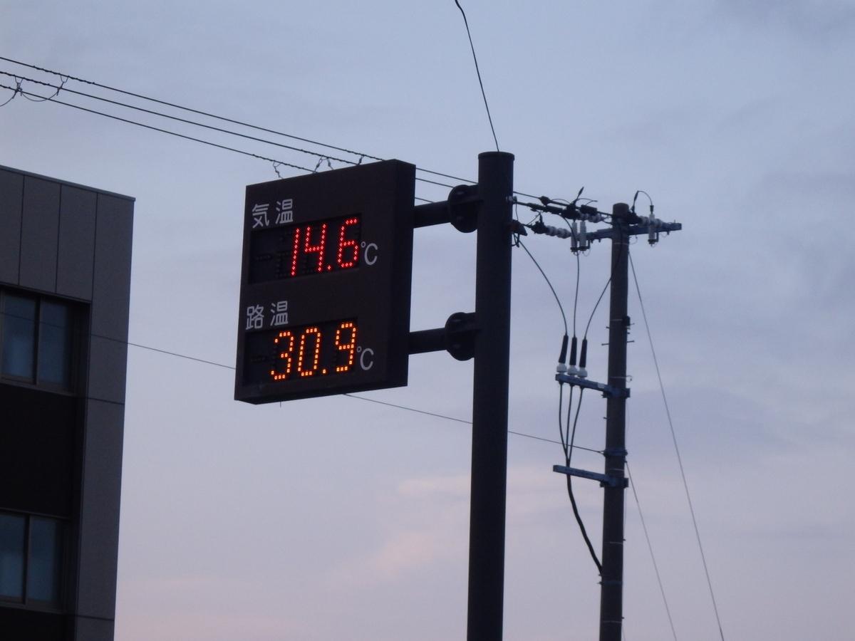 8月 夏 根室 気温14℃