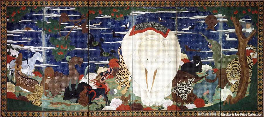 「若冲と江戸絵画」展 公式ブログフォトライフ - 鳥獣花木図屏風/伊藤若冲