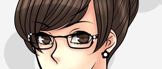 折角気合い入れて描いたメガネが縮小で潰れて憎いのでメガネ原寸をう