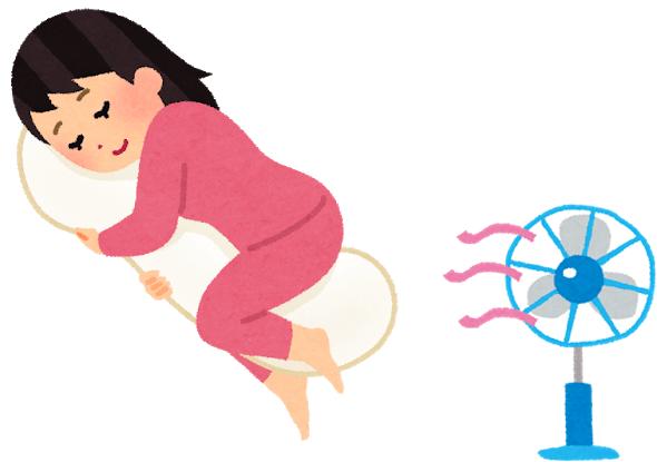 寝る 蚊 扇風機 クーラー 対策