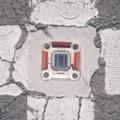 [テクスチャ][地面][道路][アスファルト][交差点][自発光道路鋲]