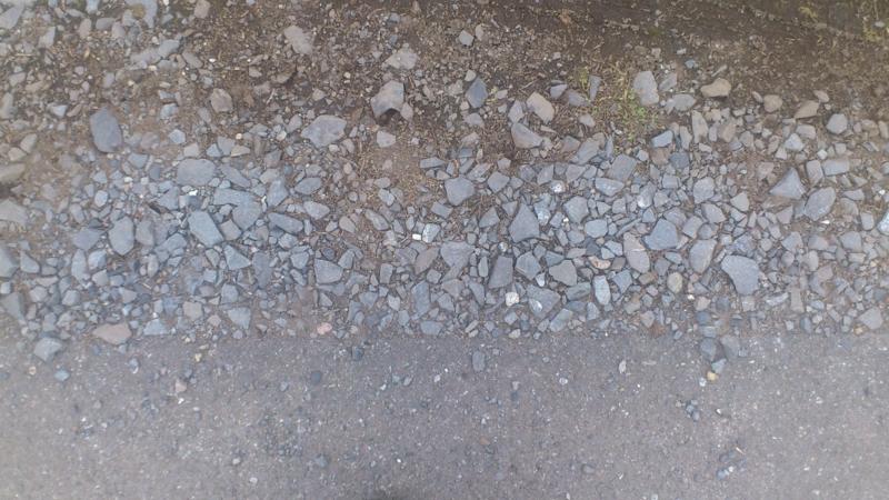 [テクスチャ][地面][道路][アスファルト][路肩]