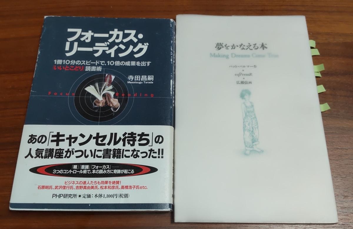 「夢をかなえる本」「フォーカス・リーディング」