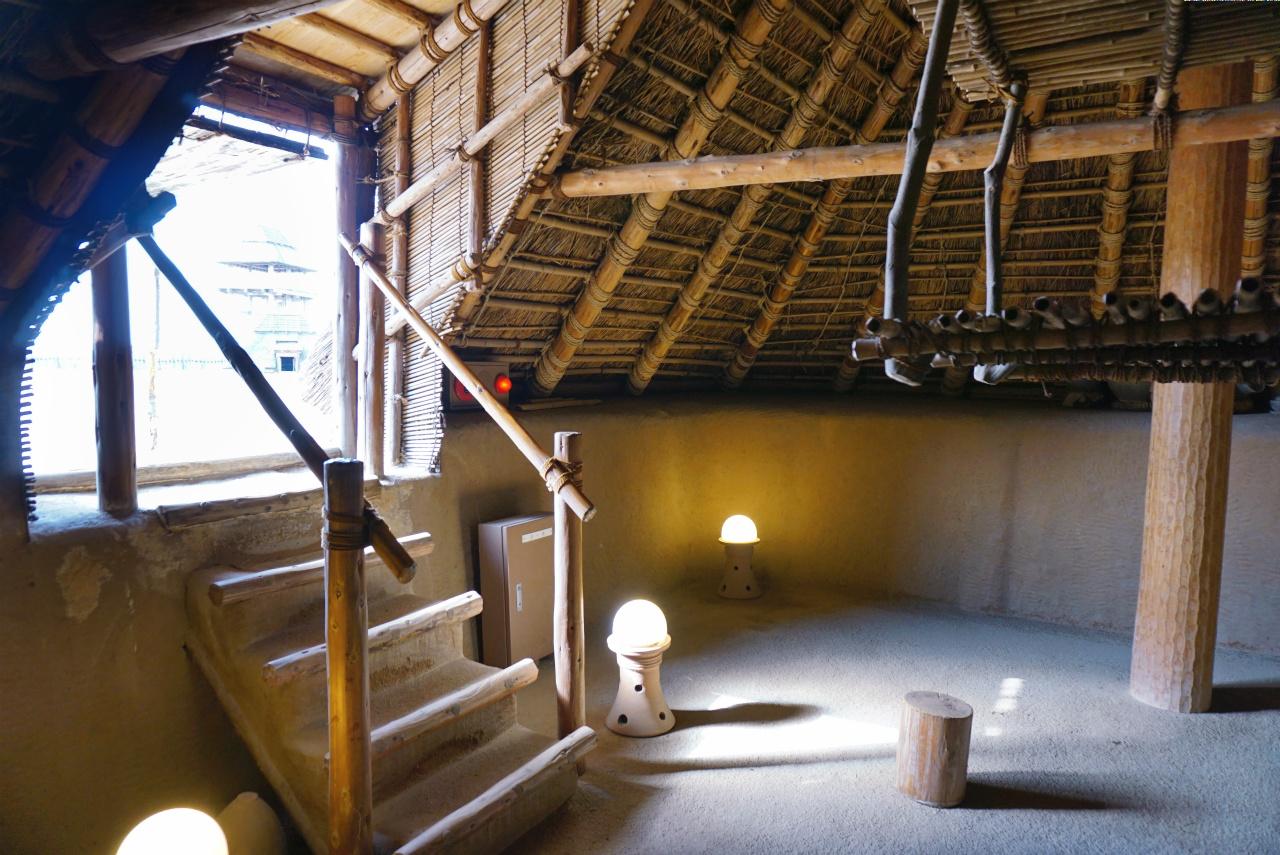 f:id:jarannu:吉野ヶ里遺跡 竪穴式住居