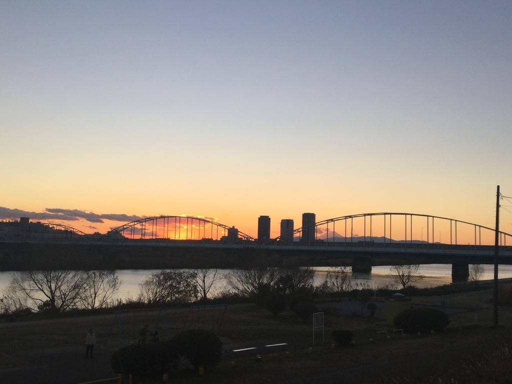 多摩川大橋を超えて六郷に向かって歩く