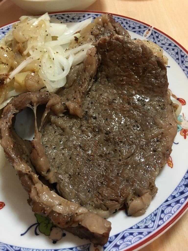 仙台牛のステーキです