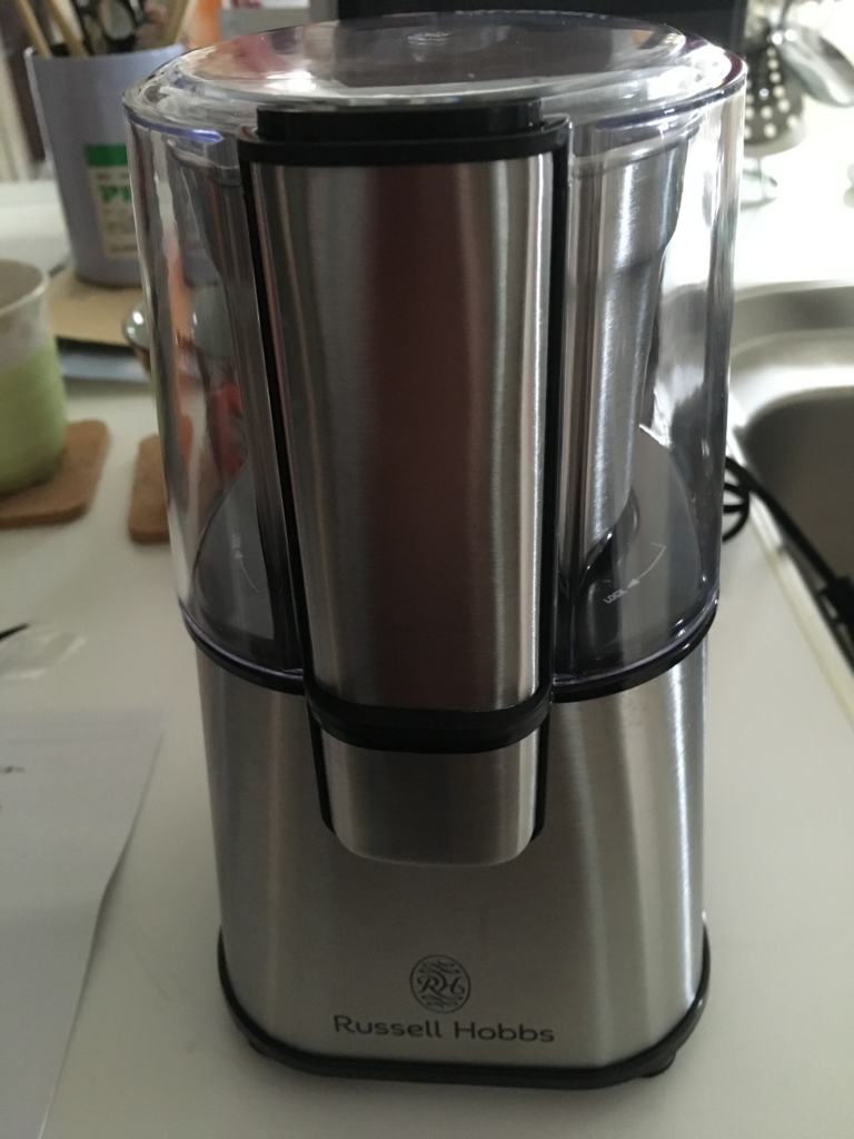 ラッセルホブスのコーヒーグラインダー