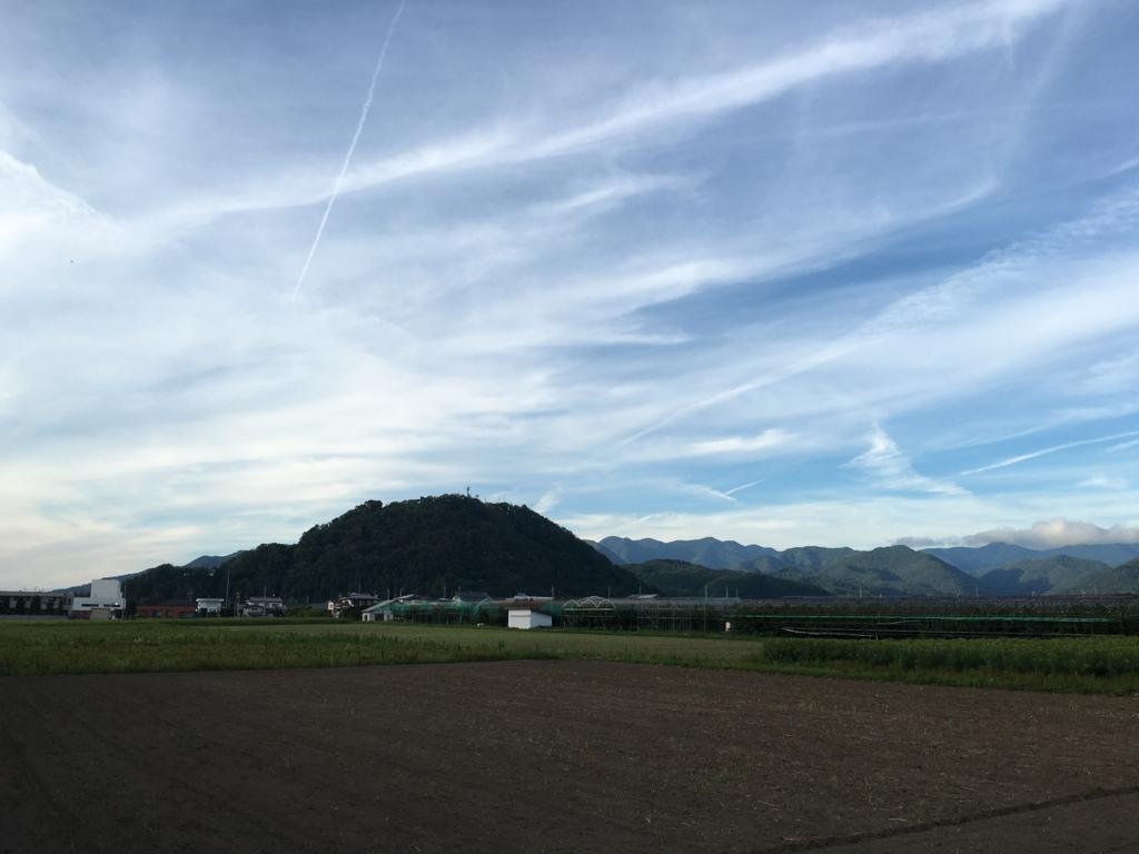 中島天香園から大森山眺め