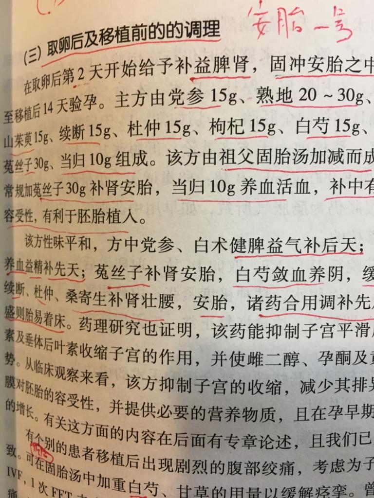 中国語の不妊症の漢方薬の本