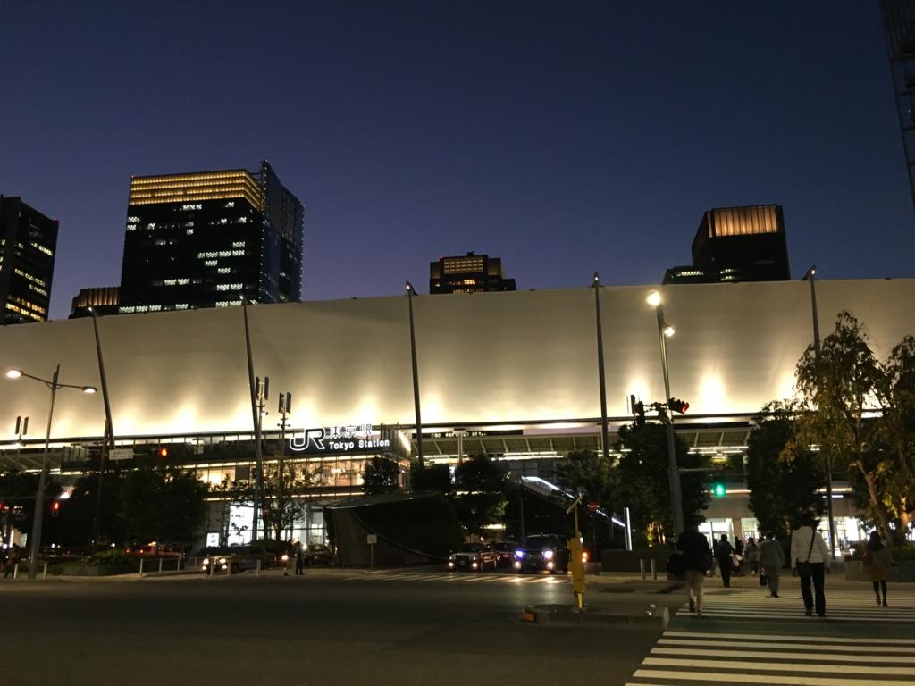 東京駅の夜景 大丸
