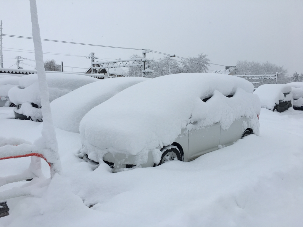 大石田駅の駐車場です