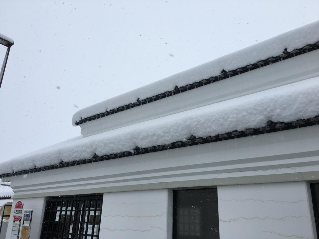 大石田駅の屋根です