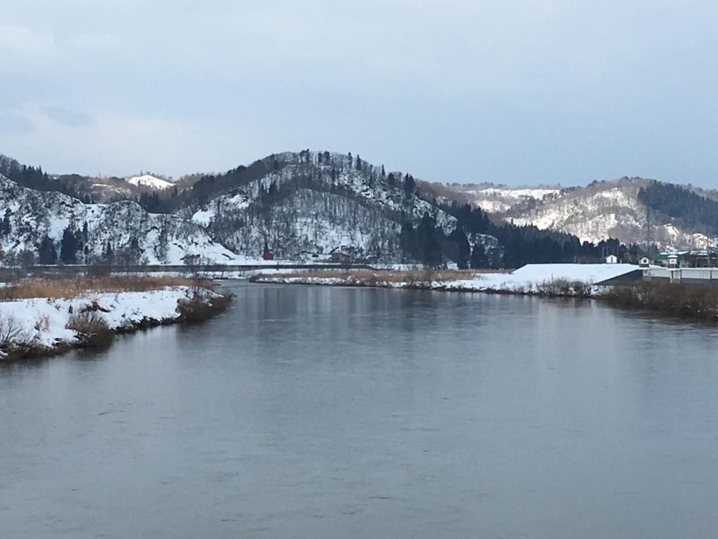 大石田の最上川の眺め