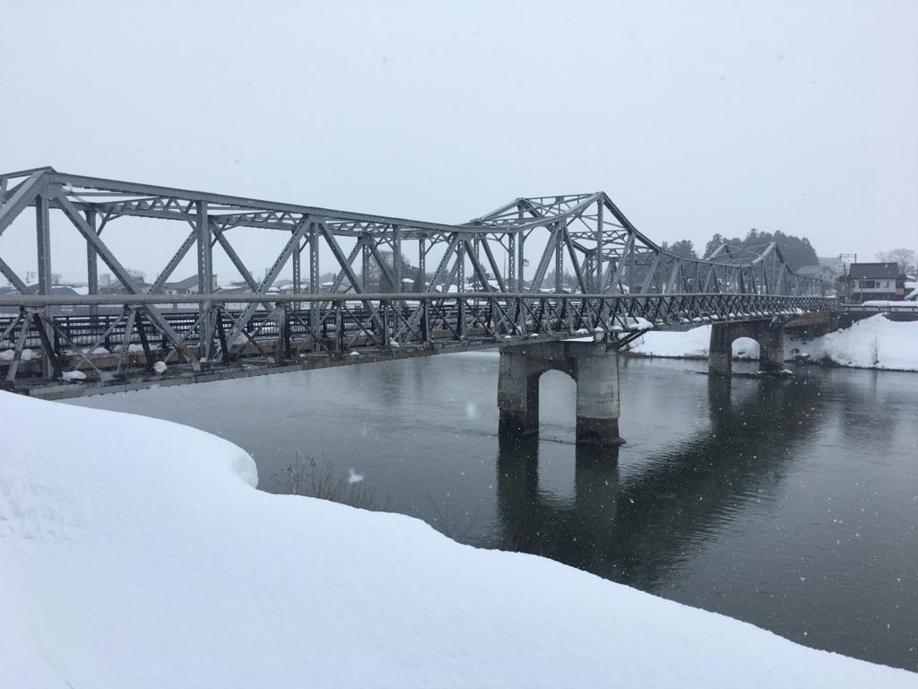 最上川に架かる大石田大橋