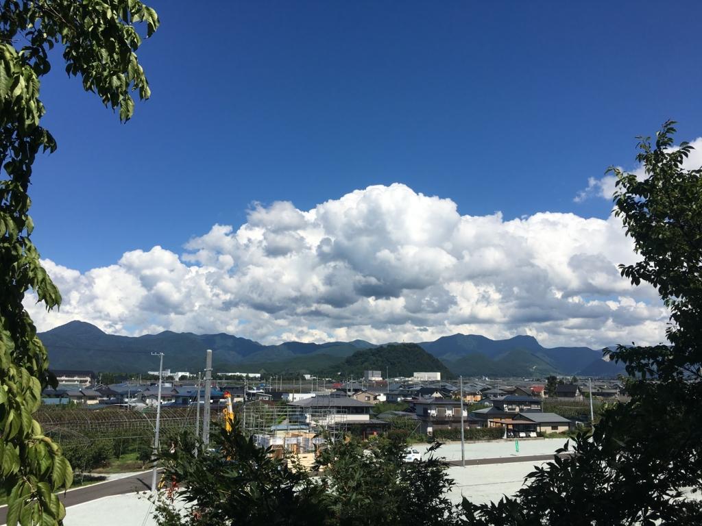 大日様からの眺め 奥羽山脈