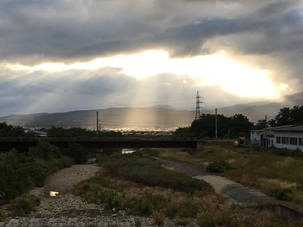 野川橋で感動的な風景を