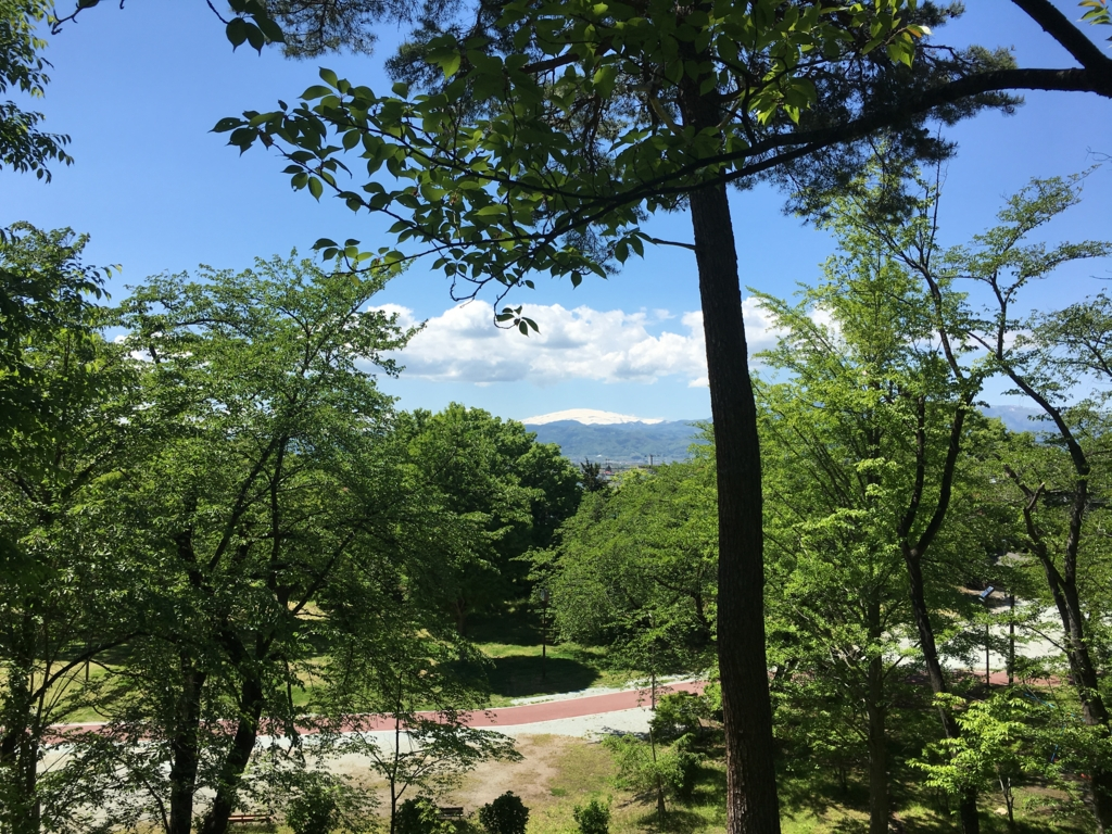 若木山からの月山眺め