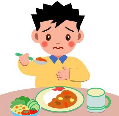 食欲不振の男性
