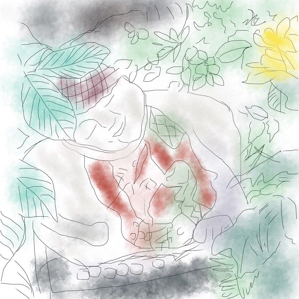 草津のお地蔵さんと菊の花