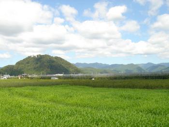 大森山と奥羽山脈