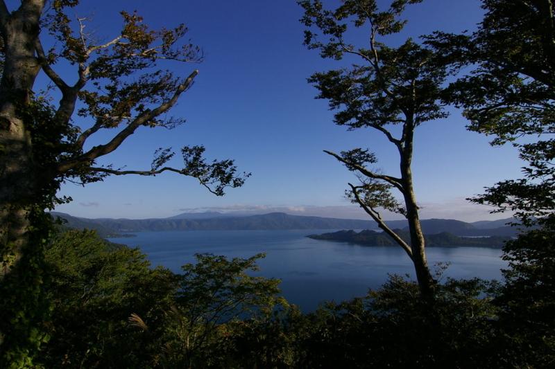 薄荷峠からの眺め 「田沢湖」
