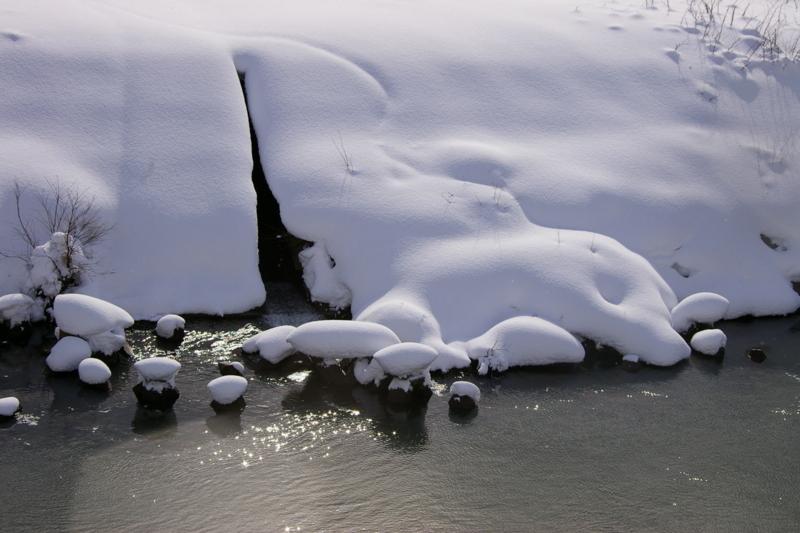 大石田川前地区 「雪の晴れ間」