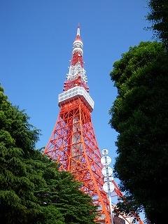 朝の散歩 東京タワー
