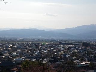 若木山からの眺め 「月山と葉山連峰」