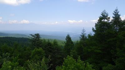 レストハウスふるさとからの眺め 浅間山方面