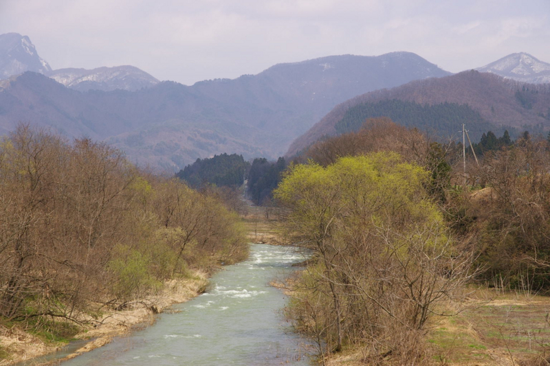 I東根市 猪野沢橋からの眺め