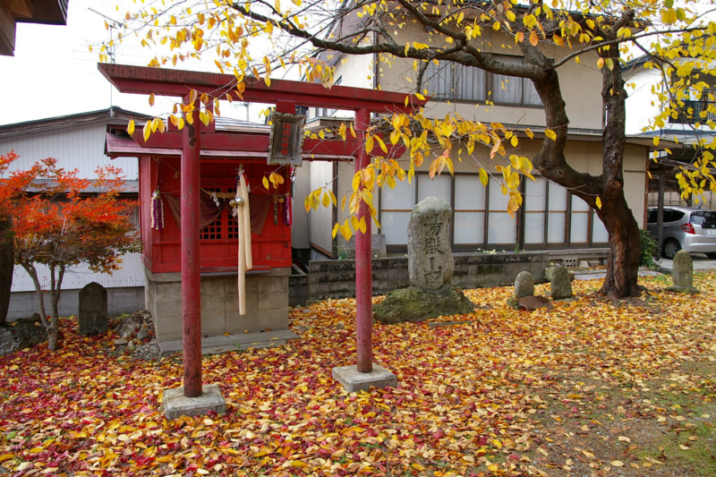 秋の紅葉 若木神社