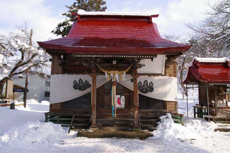 雪の若木神社