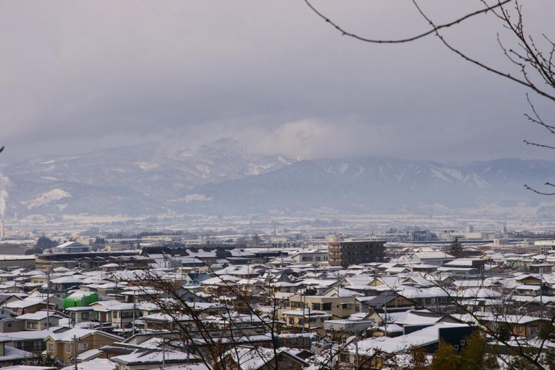 葉山連峰の眺めが雄大でした