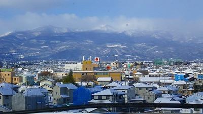 山形新幹線つばさの車窓から 福島市
