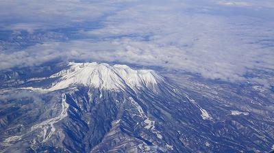 大阪に出張に行ったときに飛行機から眺めた風景
