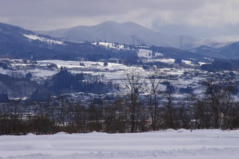 山形市蔵王中腹の雪景色