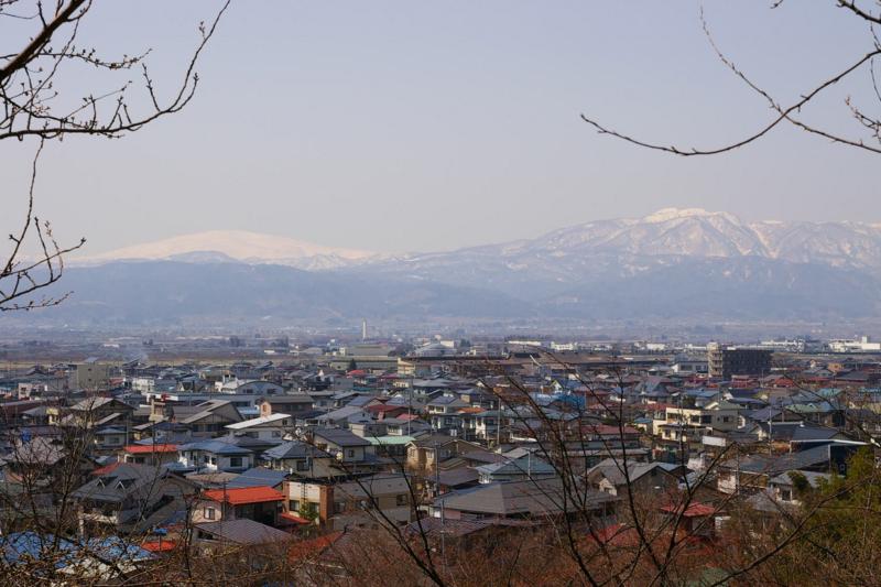 東根市若木山からの眺め