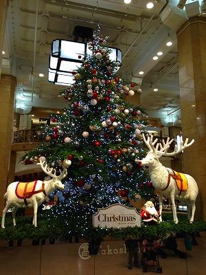 イスクラの帰りには、高島屋をのぞくとクリスマスツリーが素敵でした。